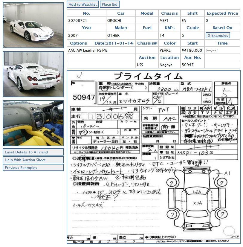 Japanese Car Auction Finds Mitsuoka Orochi Japanese Car Auctions Integrity Exports