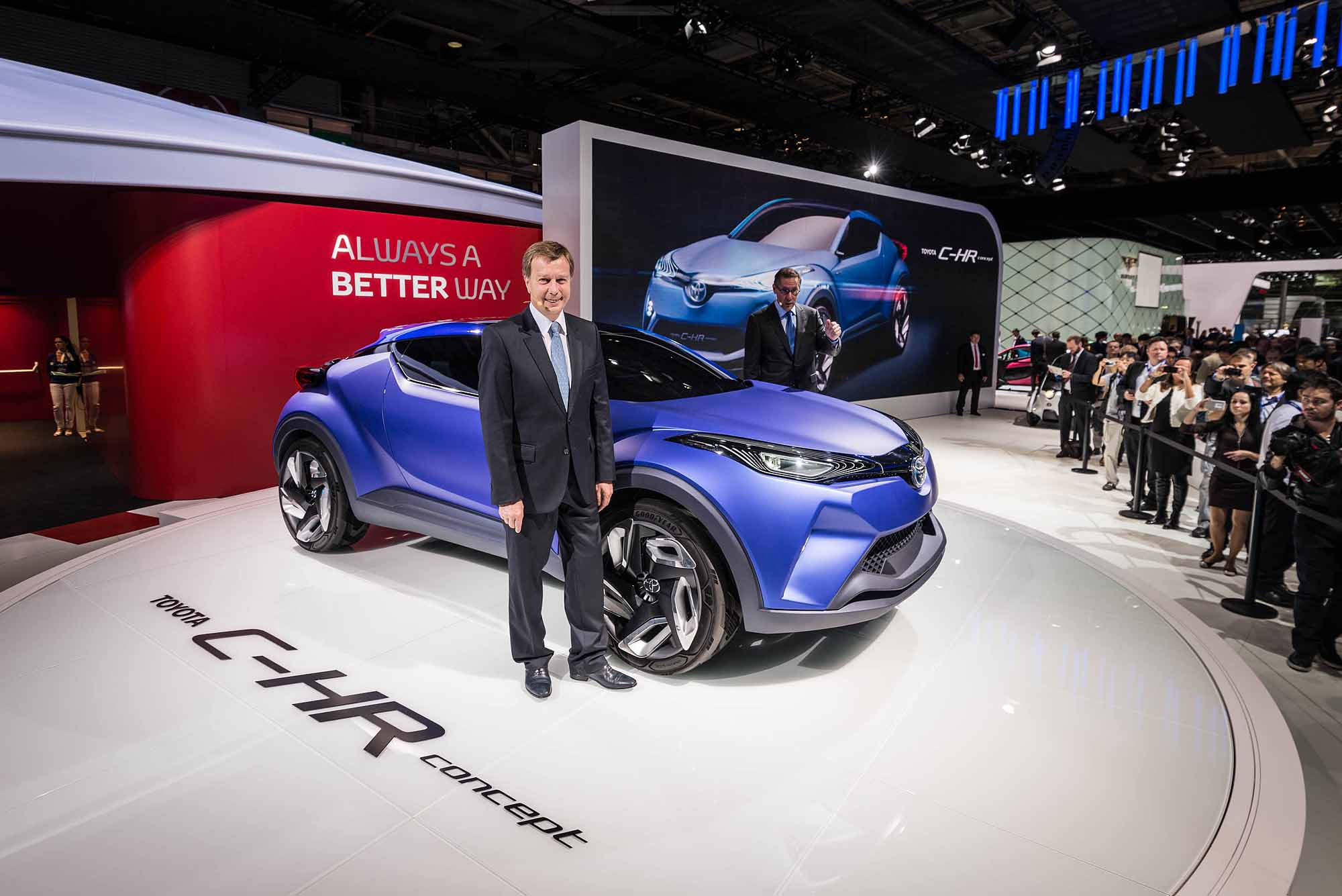 new toyota c hr concept hits the stage in paris japanese car auctions integrity exports. Black Bedroom Furniture Sets. Home Design Ideas