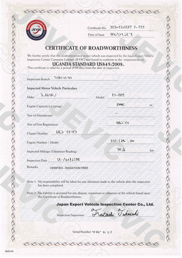 Inspections And Certifications Japanese Car Auctions Integrity