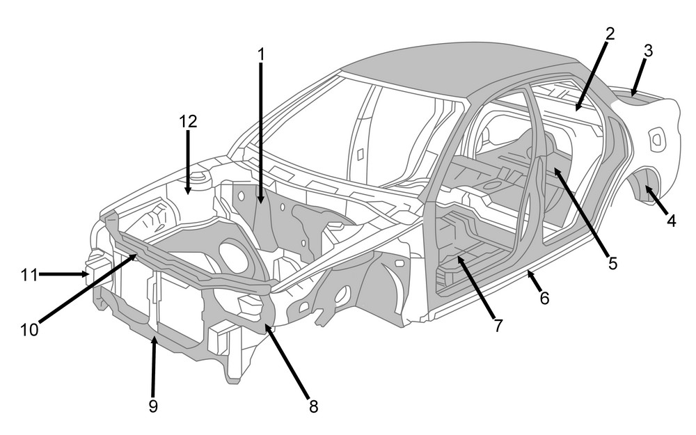 Structural parts of car body and frame - Japanese Car Auctions ...